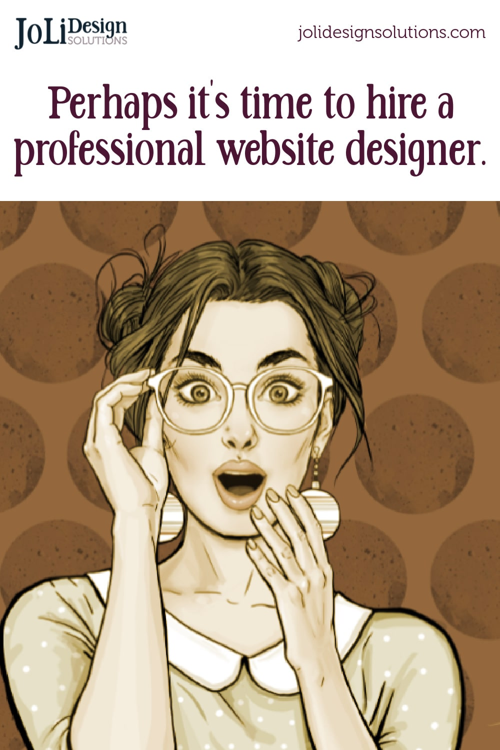 hiring a web designer - illustrated lady with surprised look